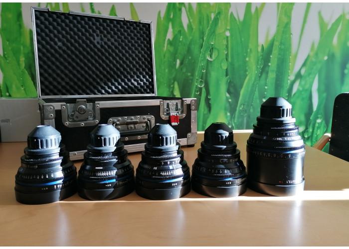 Zeiss Compact Prime CP.2 Zestaw obiektywów 18/35/50/85/100mm PL-mount