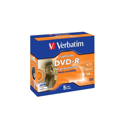 Verbatim 43621 DVD-R 5 Pack LightScribe (wyprzedaż)